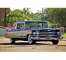 '59 Cadillac Fleetwood Limo Photographic Print