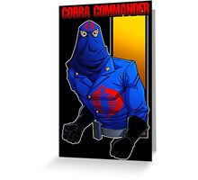 Cobra Commander Greeting Card