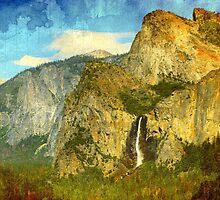 A scenic view of Yosemite National Park by ikshvaku