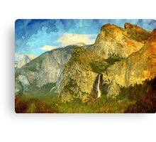 A scenic view of Yosemite National Park Canvas Print