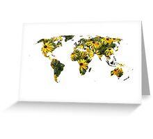Rudbeckia World Greeting Card
