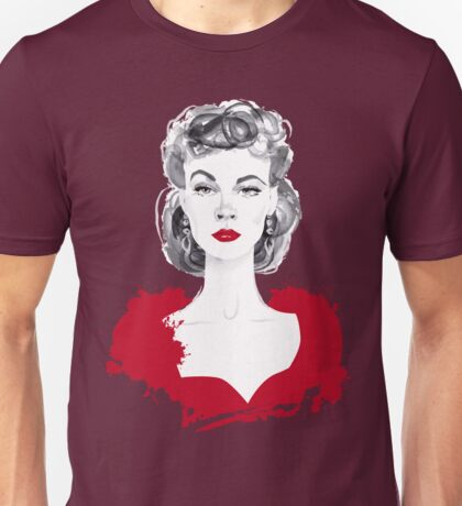 Burgundy or Scarlett Unisex T-Shirt