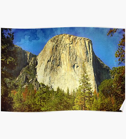 A scenic view of Yosemite National Park Poster