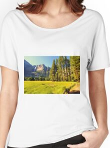 A scenic view of Yosemite National Park Women's Relaxed Fit T-Shirt