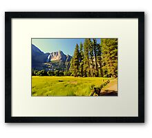 A scenic view of Yosemite National Park Framed Print