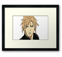 Cloud Strife Drawing Framed Print