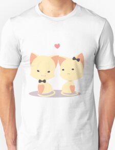 Couple cat for valentine Unisex T-Shirt