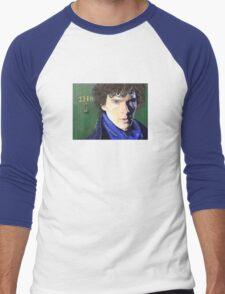 Benedict Cumberbatch as Sherlock Design 2 Men's Baseball ¾ T-Shirt