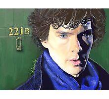 Benedict Cumberbatch as Sherlock Design 2 Photographic Print