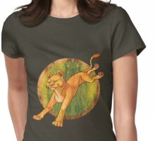 Leaping Lions! Womens Fitted T-Shirt