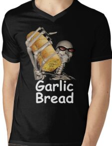 when ur mom com hom n maek hte garlic bread!!!! Mens V-Neck T-Shirt