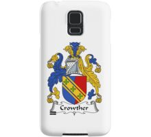 Crowther Coat of Arms / Crowther Family Crest Samsung Galaxy Case/Skin