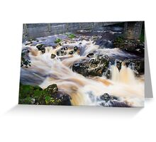 Crashing water at Linton Falls, UK Greeting Card