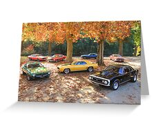 Autumn Muscle Greeting Card