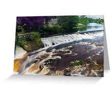 Linton Falls, UK Greeting Card