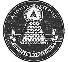 All-Seeing Eye-US Seal Reverse Photographic Print