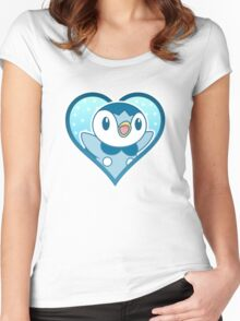 Piplup Heart Women's Fitted Scoop T-Shirt