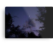 Blue Sky Moon Metal Print