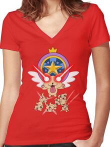 Star vs The Forces of Evil, Lazer Puppies Women's Fitted V-Neck T-Shirt