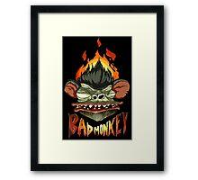 Bad Monkey Framed Print