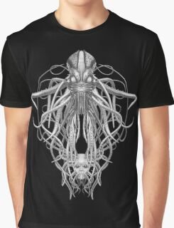 Cthulhu Pencil Sketch Effect Graphic T-Shirt