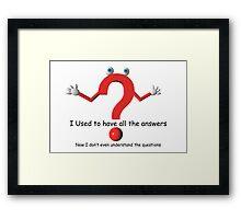Question Mark Humor Framed Print