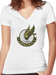 Campagnolo Vintage Italy Women's Fitted V-Neck T-Shirt