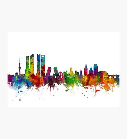 Madrid Spain Skyline Photographic Print