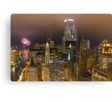 Chicago Fireworks Canvas Print