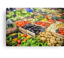 food healthy vegetables potatoes Canvas Print