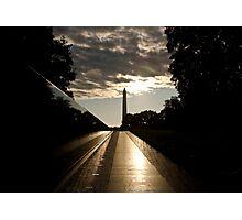 Vietnam war memorial in Washington DC Photographic Print
