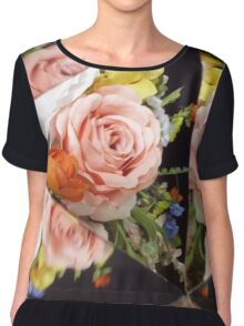 Flower Abstract Chiffon Top