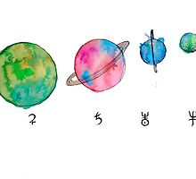 solar system #2 by Laura Carpenter