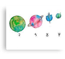 solar system #2 Canvas Print