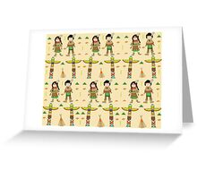 Little Indians Greeting Card