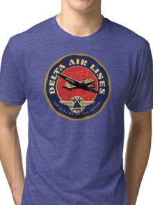 Delta Airlines Vintage USA Tri-blend T-Shirt