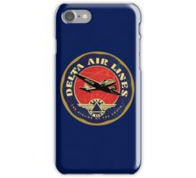 Delta Airlines Vintage USA iPhone Case/Skin