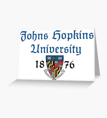 Johns Hopkins University-Gothic Text Greeting Card