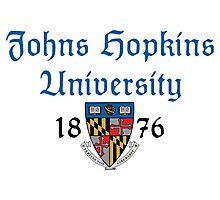 Johns Hopkins University-Gothic Text Photographic Print