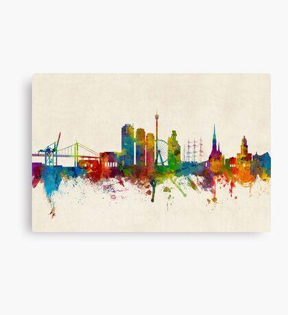 Gothenburg Sweden Skyline Canvas Print
