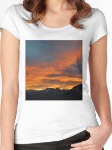 Austrian Sunset Women's Fitted Scoop T-Shirt