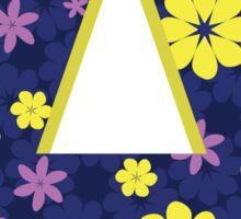 Flower Letter A Sticker