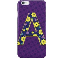 Flower Letter A iPhone Case/Skin
