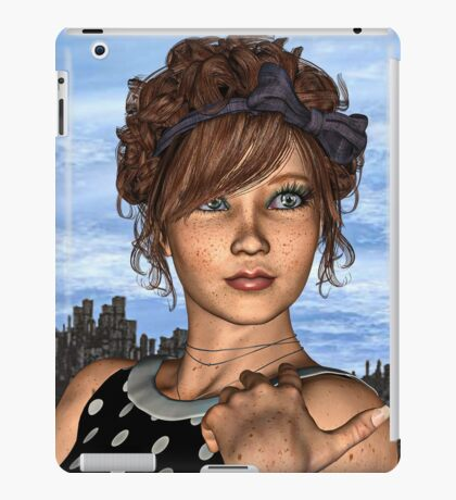 Retro Girl iPad Case/Skin