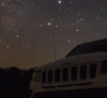 Milky Way over Jeep Sticker