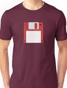 "3.5"" HD Floppy Disc (Red)  Unisex T-Shirt"