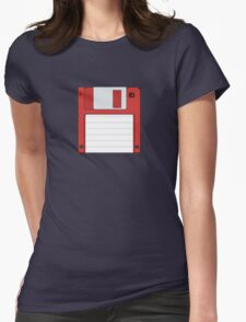 """3.5"""" HD Floppy Disc (Red)  Womens Fitted T-Shirt"""