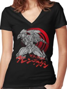 Gurren-Lagann Women's Fitted V-Neck T-Shirt