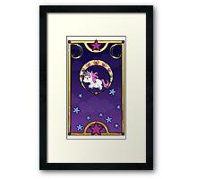 Chibi Nouveau Unicorn Framed Print