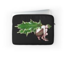 Crimson Holly Gatherer - by Nelson Pawlak © 2016  Laptop Sleeve